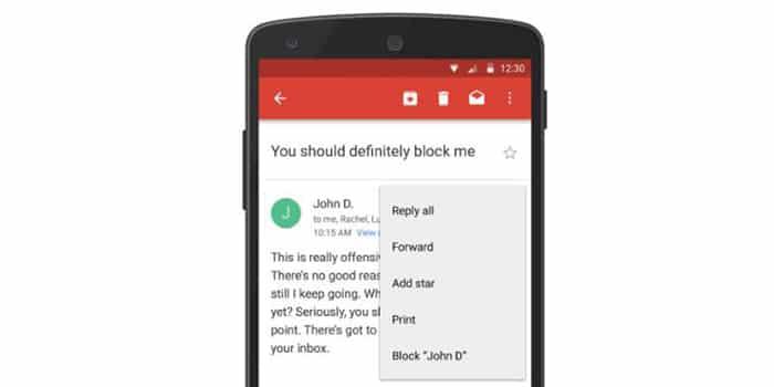 """Gmail Bisa Blokir E-mail """"Pengganggu"""""""