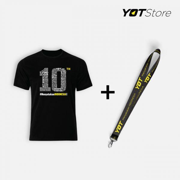 Paket Kaos dan Lanyard YOT - Young On Top