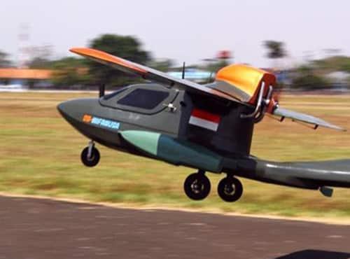 Uji Coba Pesawat Tanpa Awak Hasil Karya Anak Negeri