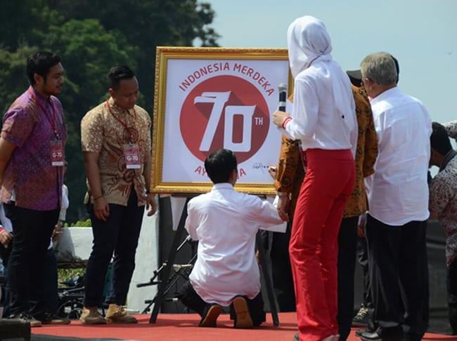 logo hut ke-70 republik indonesia dibuat oleh bassist thirteen