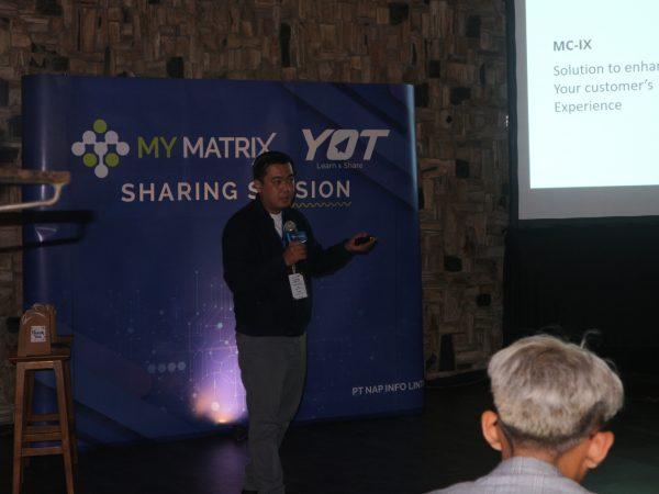Junaidy Guntoro, Asst. Manager Enterprise Sales My Matrix x Young On Top