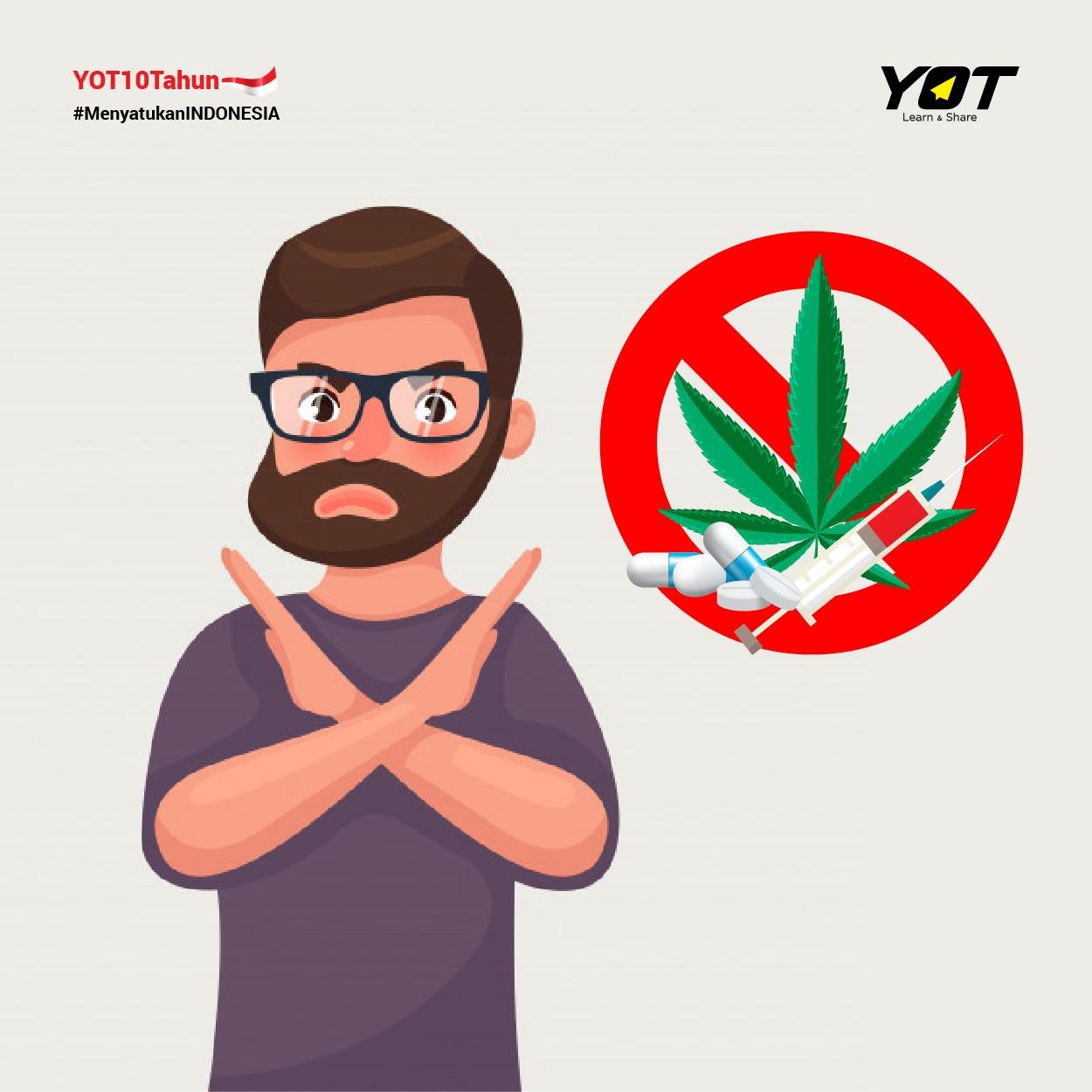 Gambar Ilustrasi Stop Narkoba Hari Anti Narkotika Sedunia Peran Pemuda Indonesia Dalam