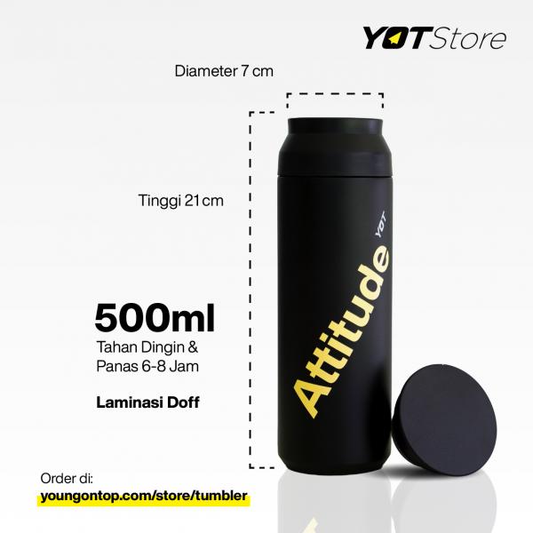 Detail Tumbler YOT Store laminasi doff