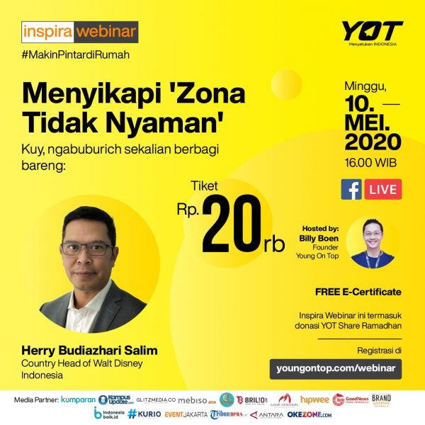 Inspira Webinar Herry Budiazhari Salim Country Head of Walt Disney Indonesia