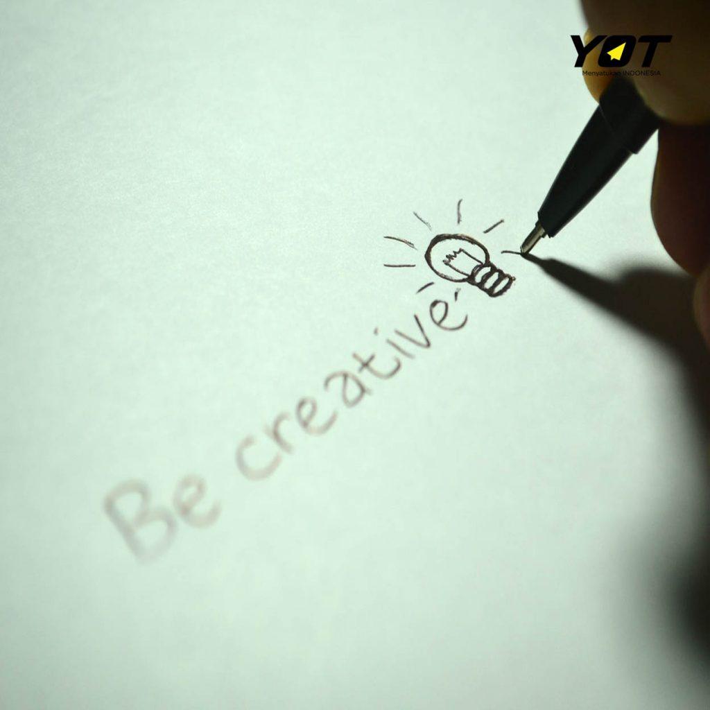 merasa kurang kreatif coba ikutin cara menjadi kreatif ini